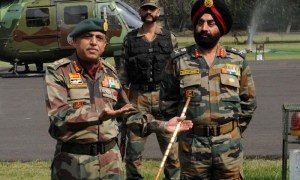 """I have given directions to call off the concerted search operation,"" Lt Gen Sanjiv Chachra, a senior commander, told reporters after a visit to the Line of Control (LoC). — Photo by AFP"